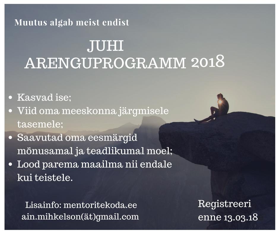 Juhi arenguprogramm 2018